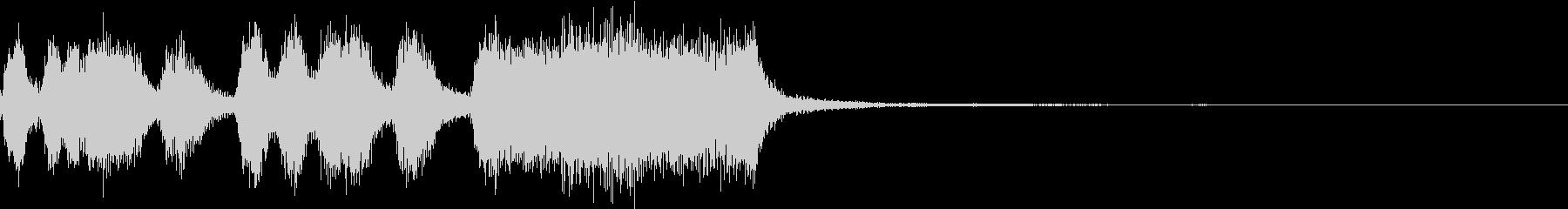 シンプル ファンファーレ 成功 完成 Eの未再生の波形