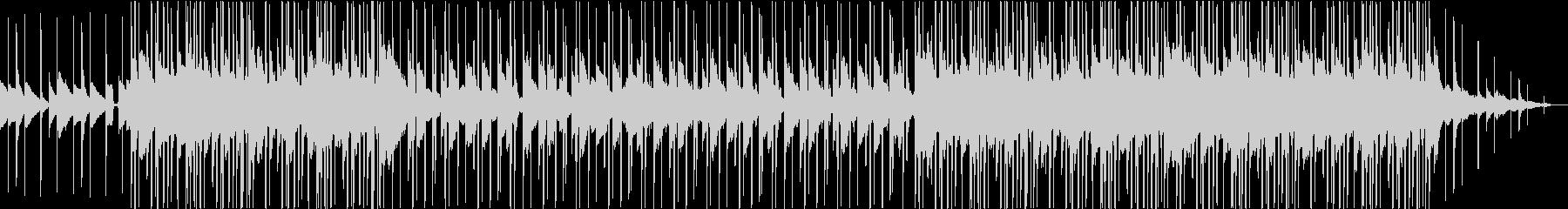 ピアノとストリングスのローファイビートの未再生の波形