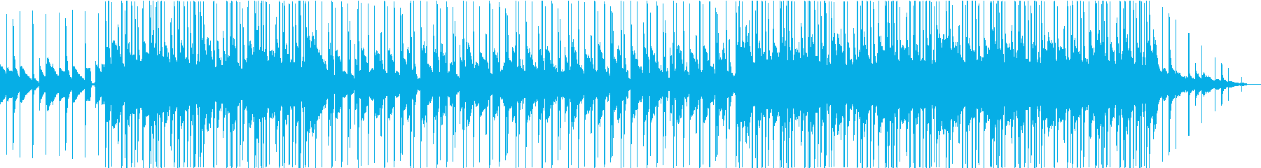 ピアノとストリングスのローファイビートの再生済みの波形