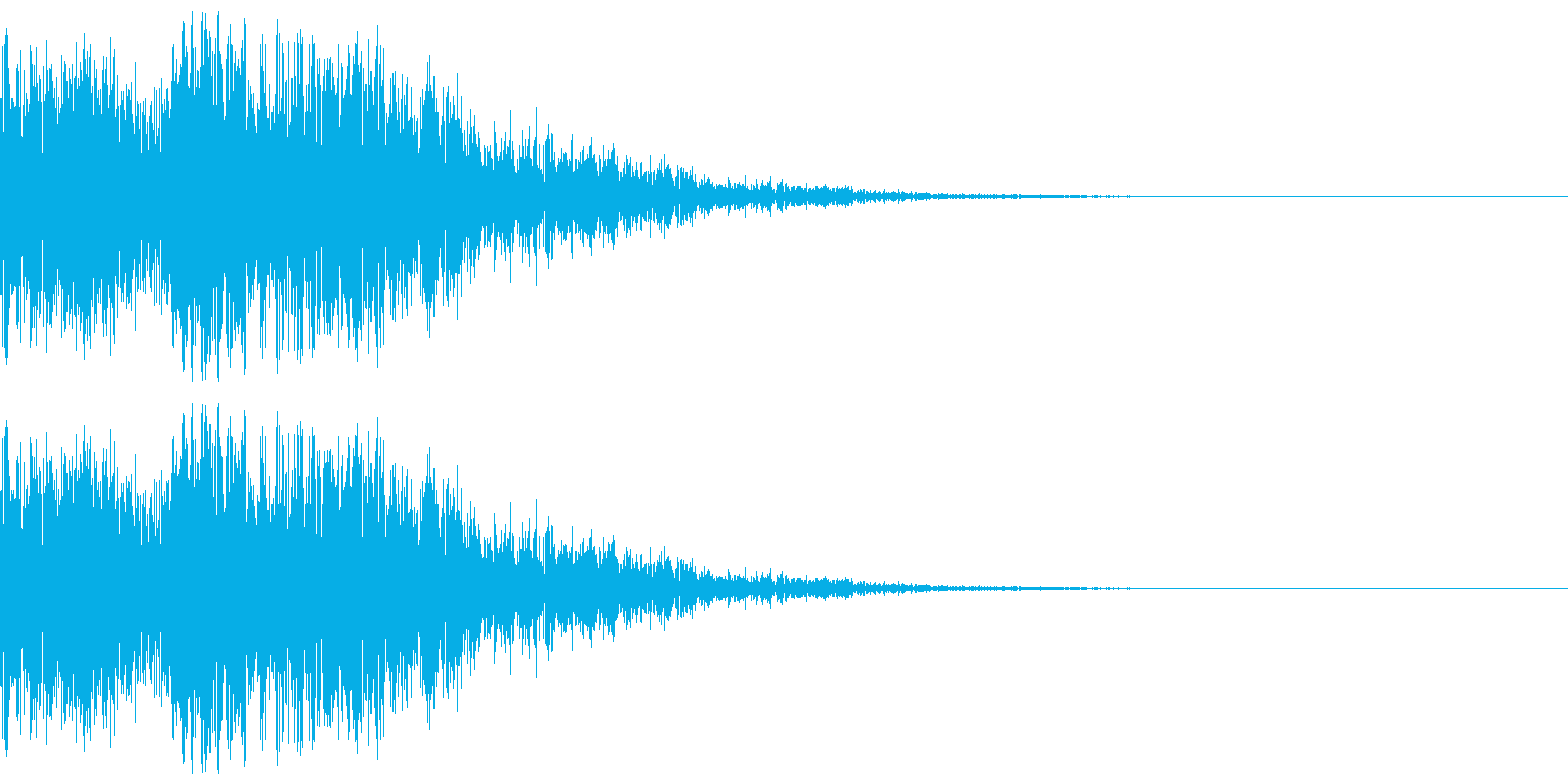 ゲームに使えそうなヒット、消滅音の再生済みの波形