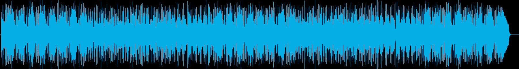 疾走感がありドラムが印象的なハウスの再生済みの波形