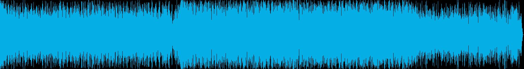 機械的EDMサウンドの短編BGMの再生済みの波形