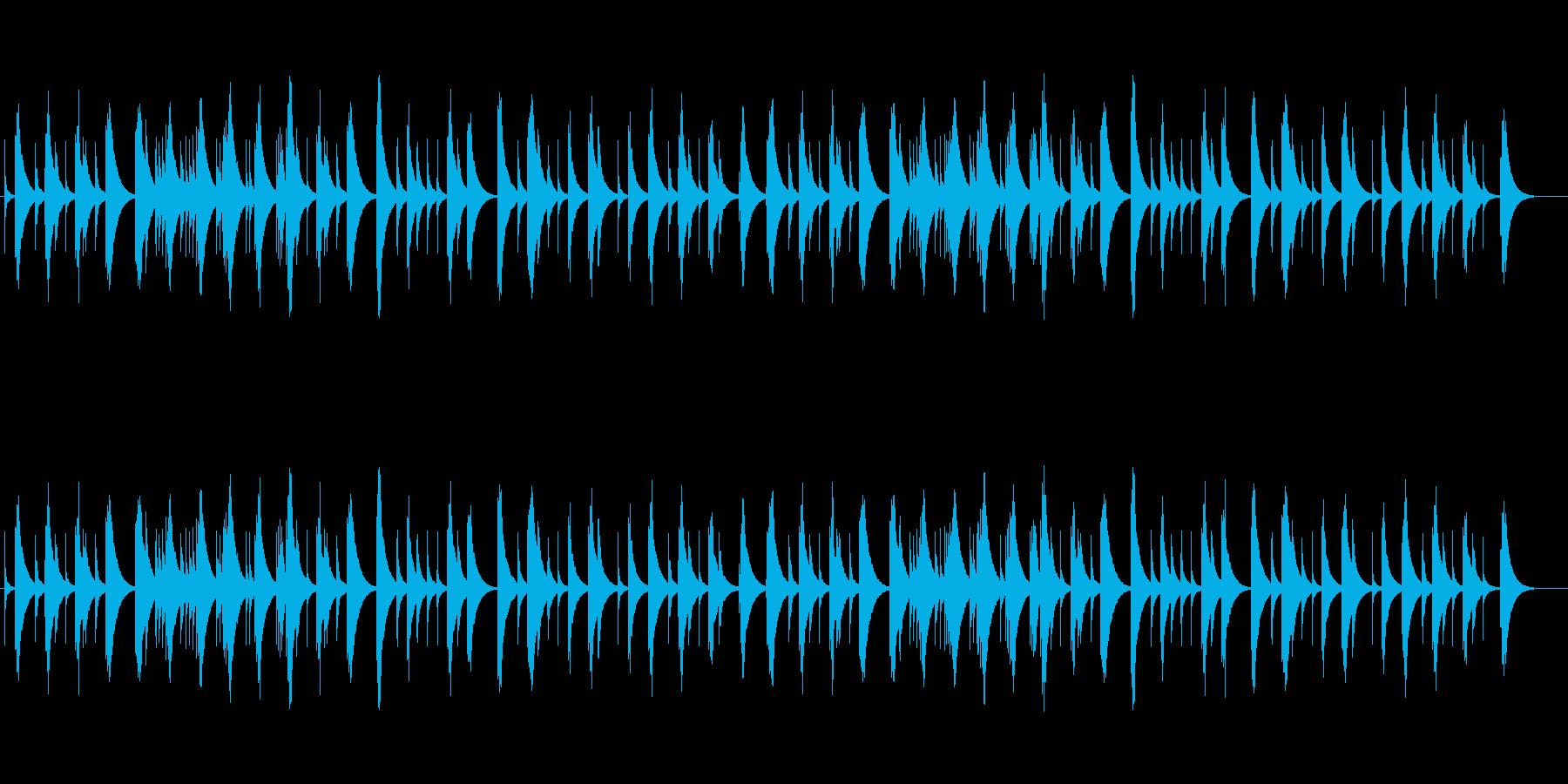 ショパン夜想曲4番のオルゴールの再生済みの波形