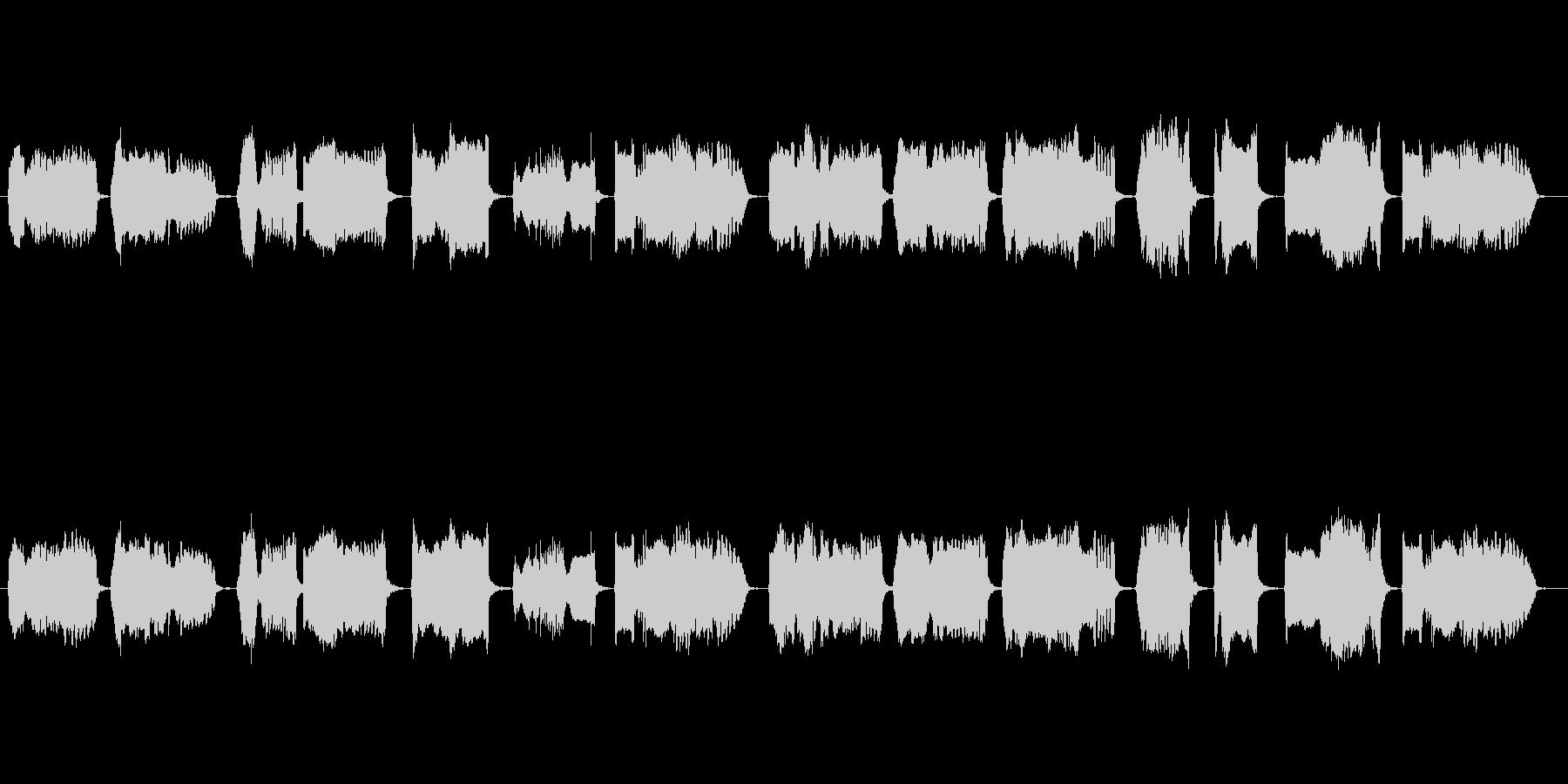 和風の映像に合う篠笛独奏の未再生の波形