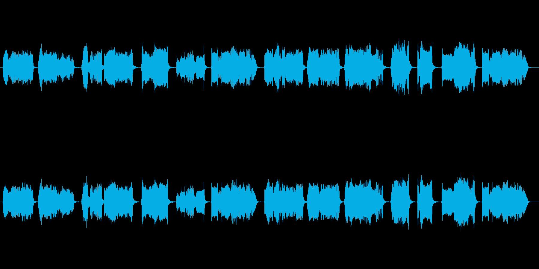 和風の映像に合う篠笛独奏の再生済みの波形