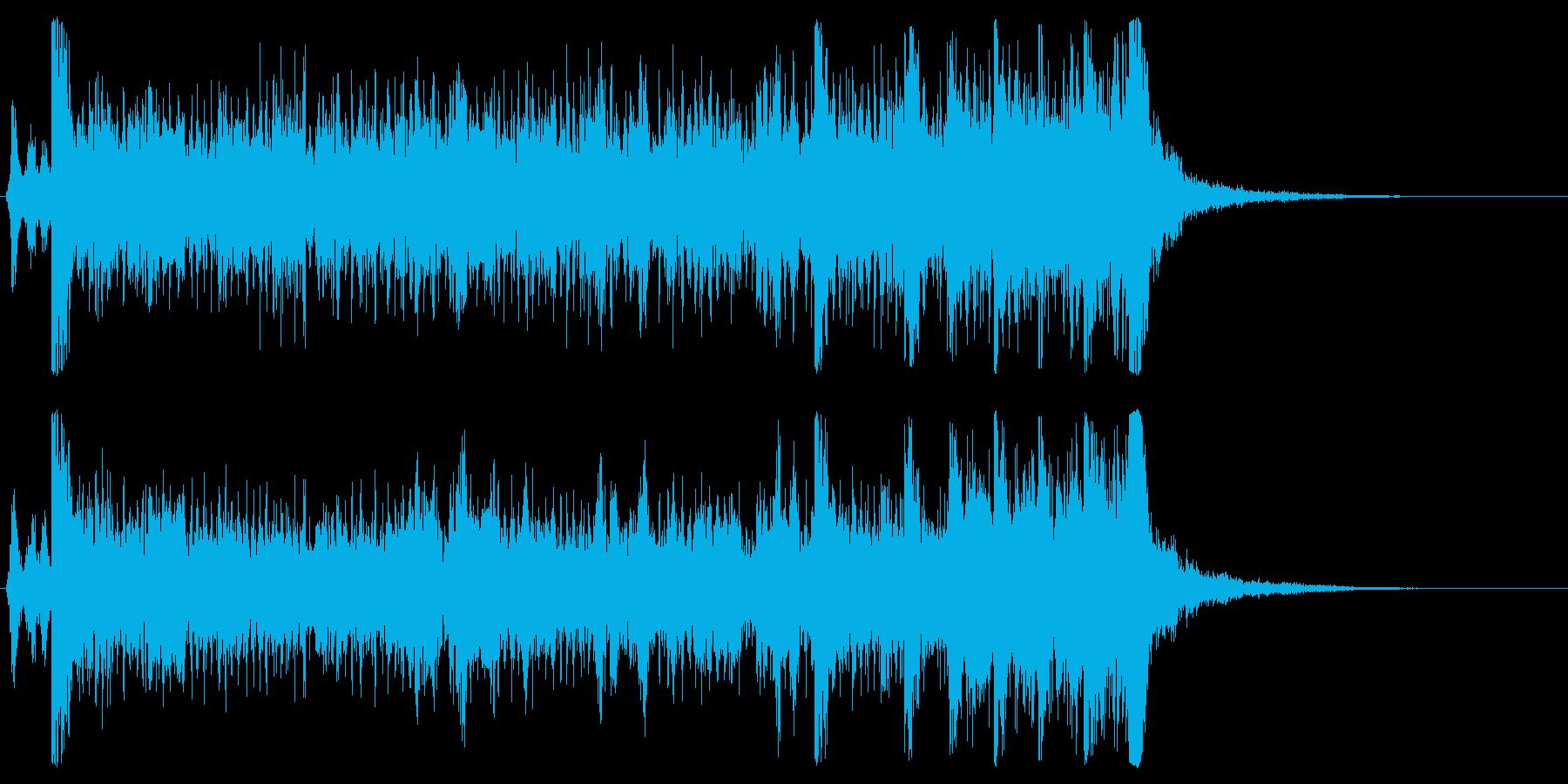 発表シリーズドラムロール表彰ゲームガチャの再生済みの波形