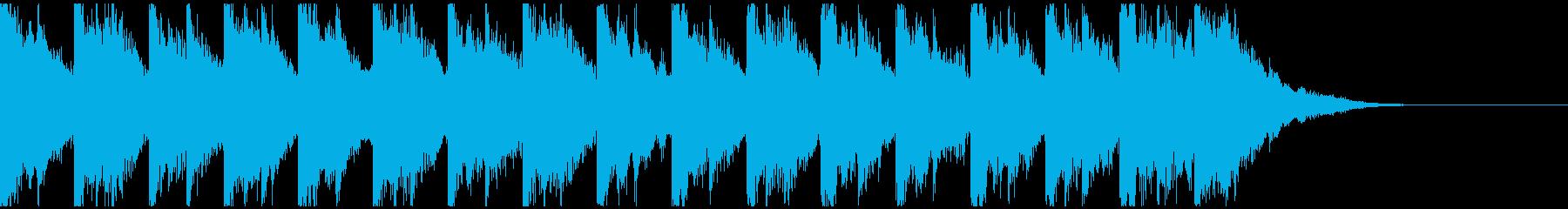 メルヘンチックでかわいい鉄琴のジングルの再生済みの波形
