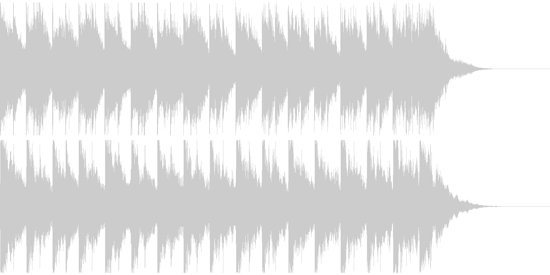 メルヘンチックでかわいい鉄琴のジングルの未再生の波形