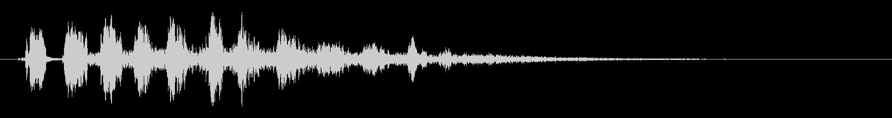 ラット・チャープ、残響の未再生の波形
