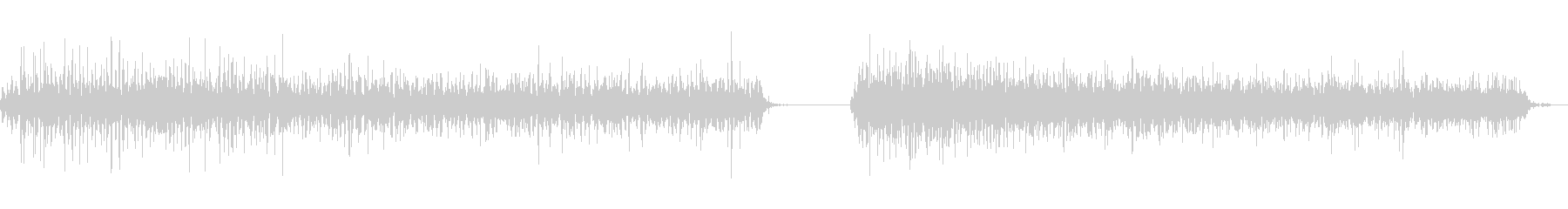 神楽鈴(小)を軽く振る音の未再生の波形