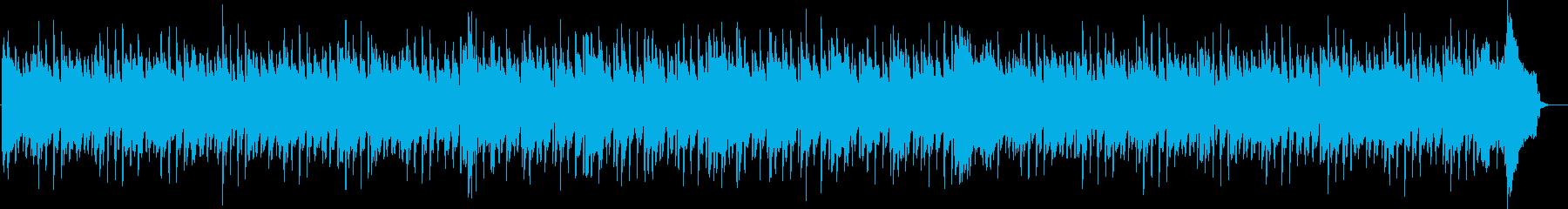 明るくコミカルなシーン、ペット動画風の再生済みの波形
