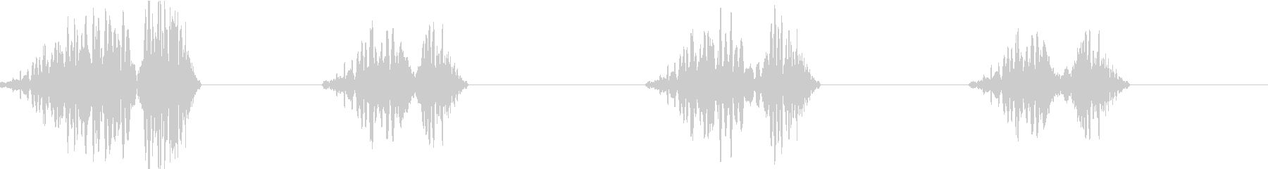 DJプレイ スクラッチ・ノイズ 184の未再生の波形