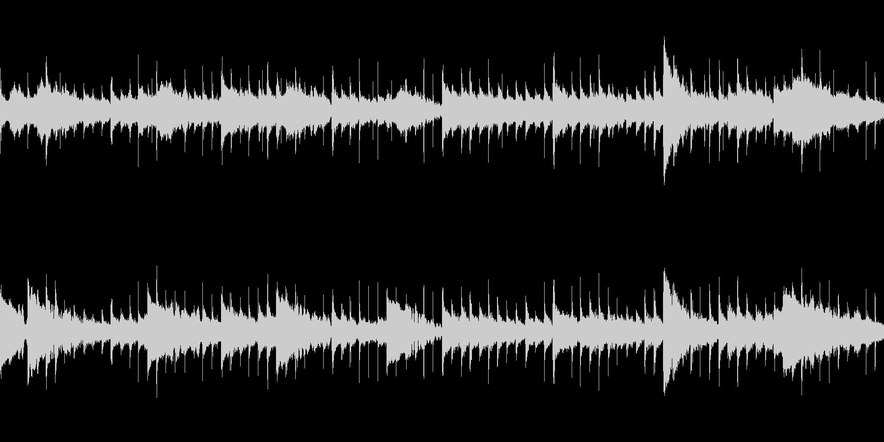 ゆったりとしたエレクトロの未再生の波形