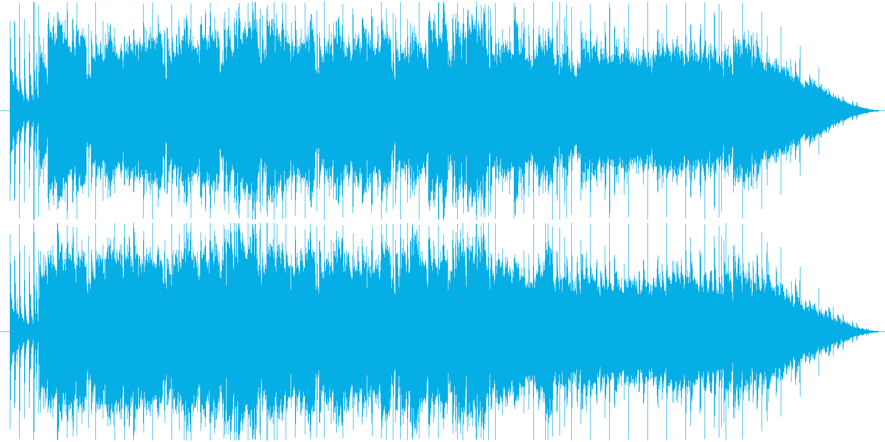 ファミリーカーCM風の楽しいBGMの再生済みの波形