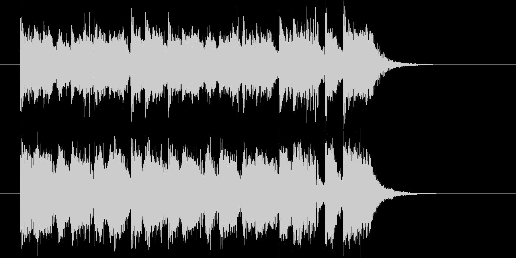 クールな勢いのフュージョンによるジングルの未再生の波形