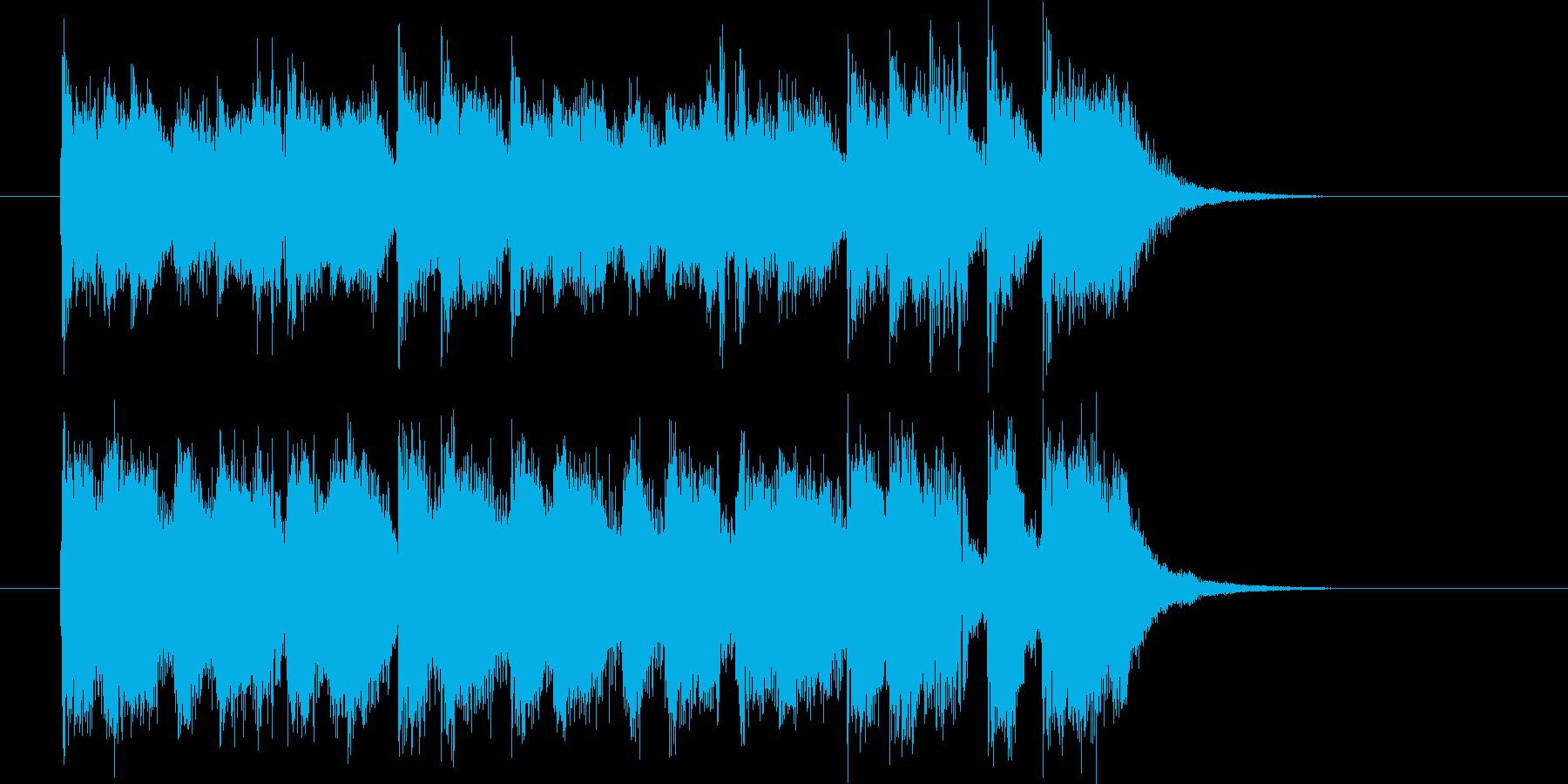 クールな勢いのフュージョンによるジングルの再生済みの波形