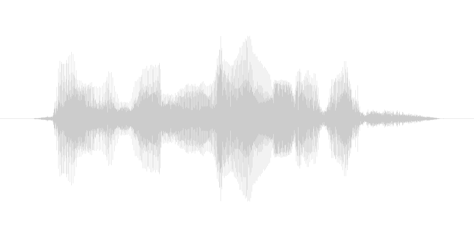 ファイナルラウンドですの未再生の波形