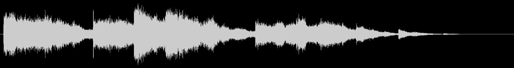 鳴り響く教会の鐘/ベル/チャイムの未再生の波形