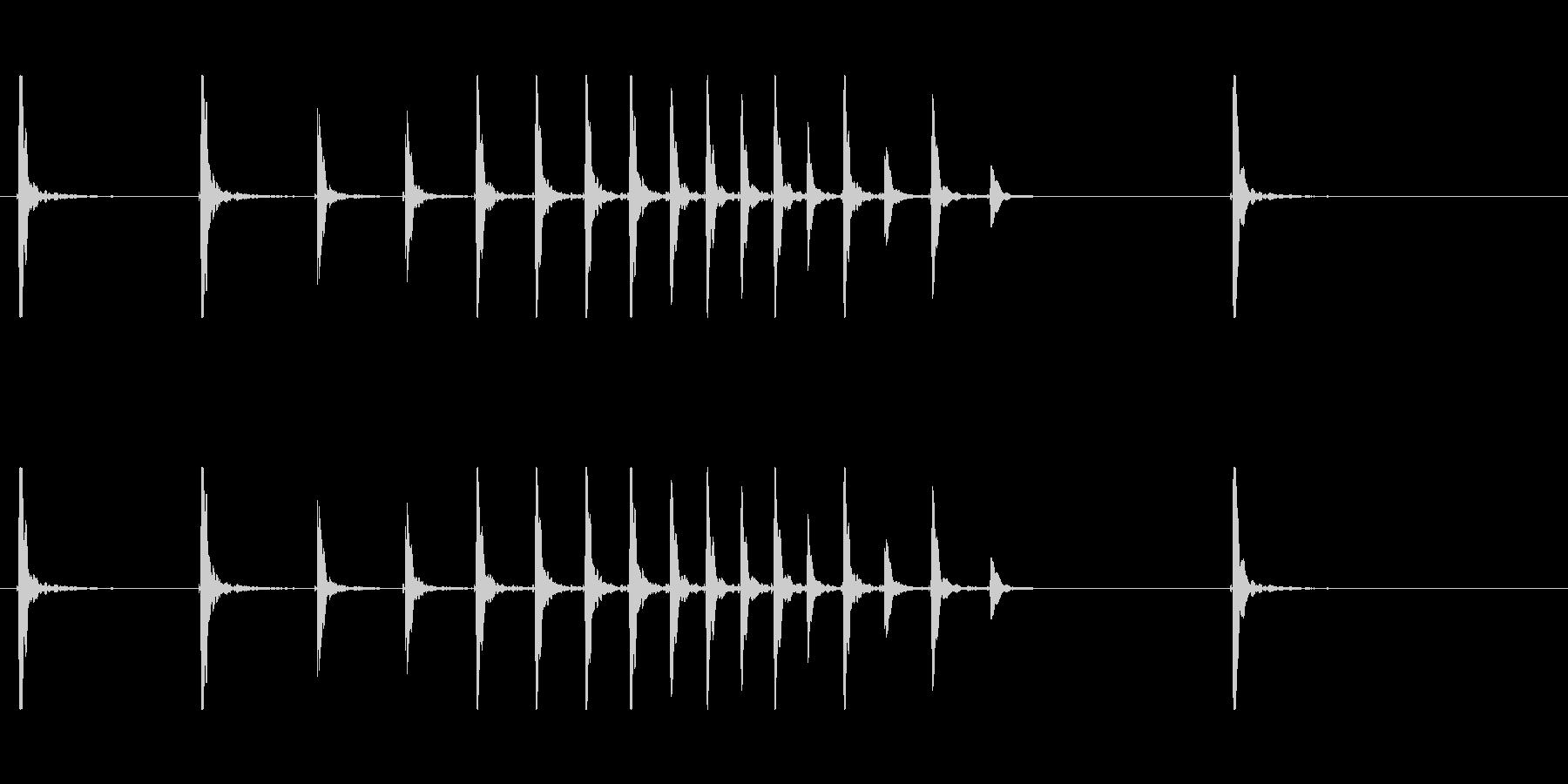 鼓3ポポポポポポン和風歌舞伎イヨーポン伝の未再生の波形