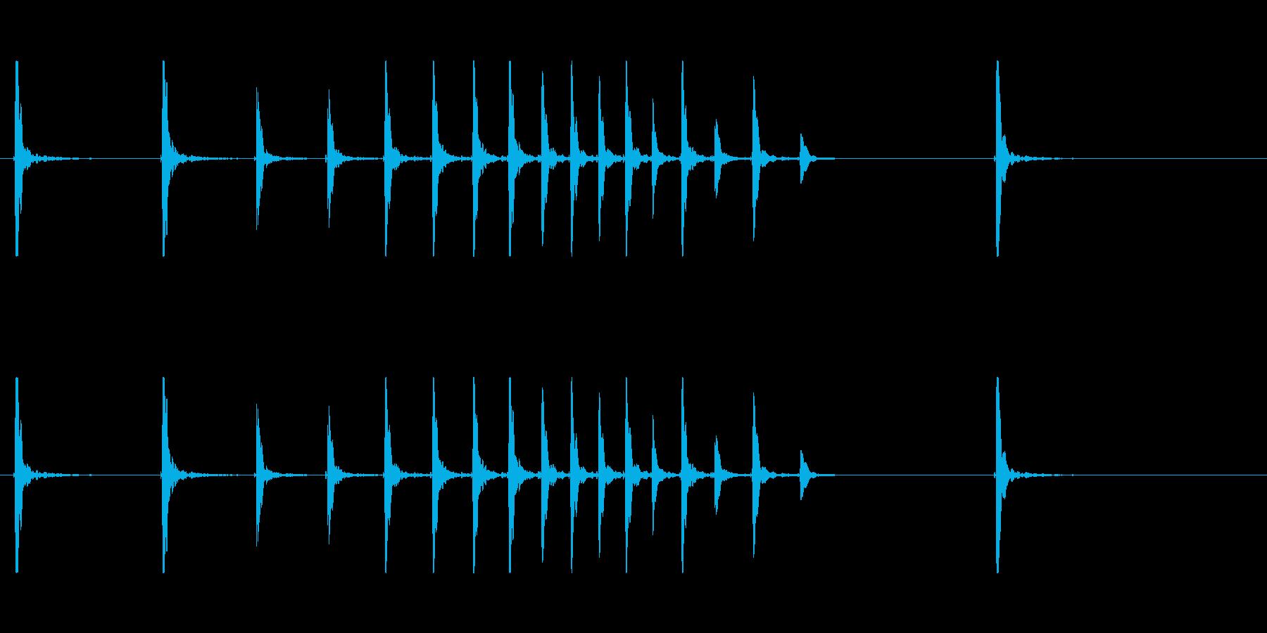 鼓3ポポポポポポン和風歌舞伎イヨーポン伝の再生済みの波形