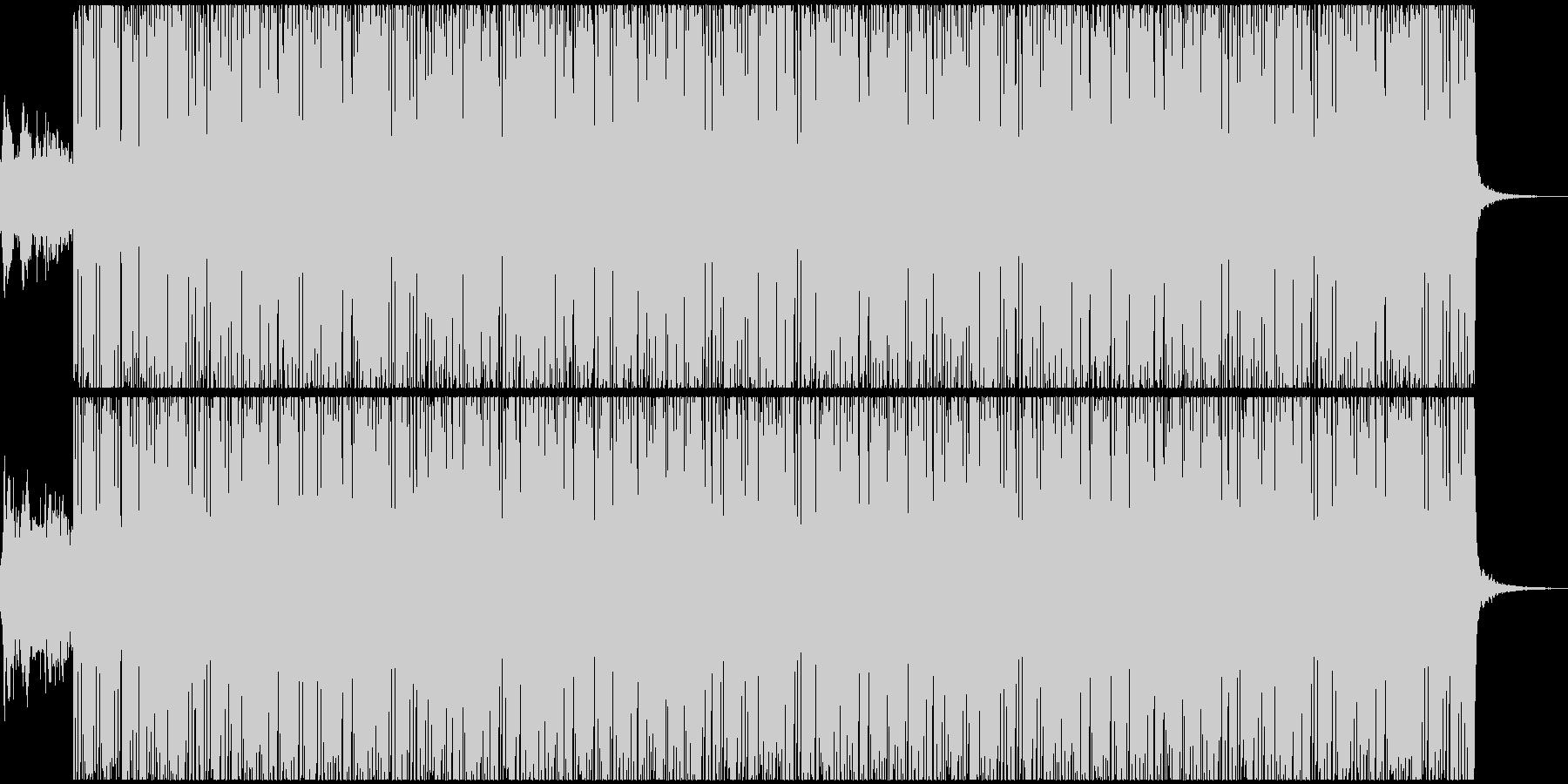 ベースの効いた低音のテクノサウンドの未再生の波形