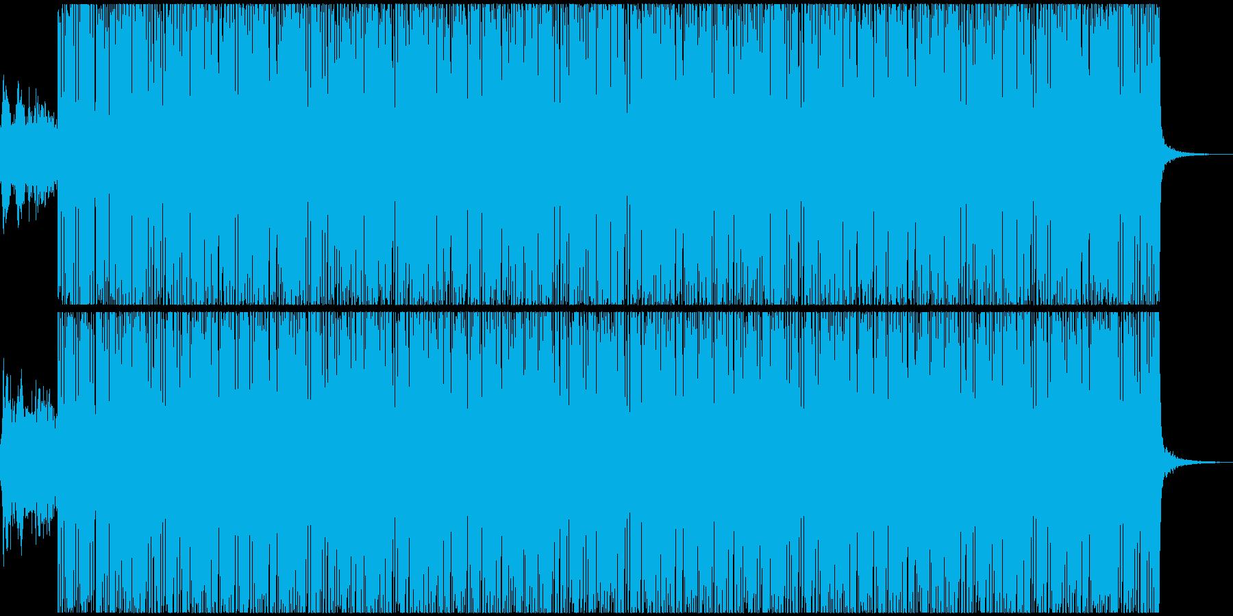 ベースの効いた低音のテクノサウンドの再生済みの波形