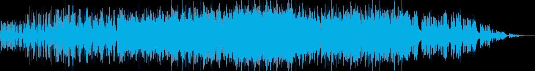 優しいアコースティック音源とビートの楽曲の再生済みの波形