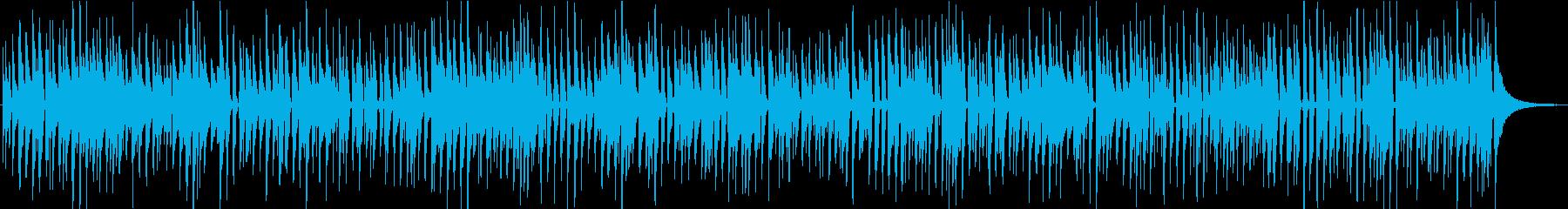 楽しげなウクレレだけで構成された曲の再生済みの波形
