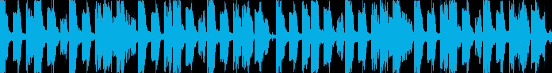 BGM03 シンセ 15秒ループの再生済みの波形
