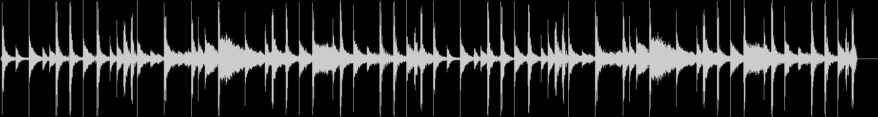 ロック向け生ドラムループ 100bpm の未再生の波形