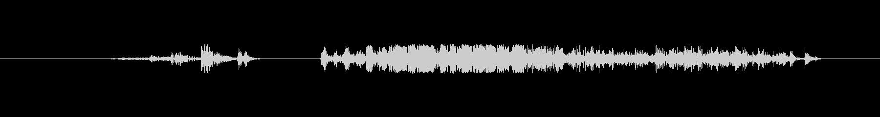 野獣 チョークショート01の未再生の波形