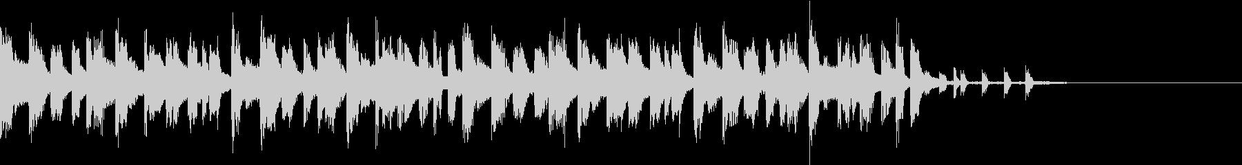 切ないイメージのテクノポップ ジングル1の未再生の波形