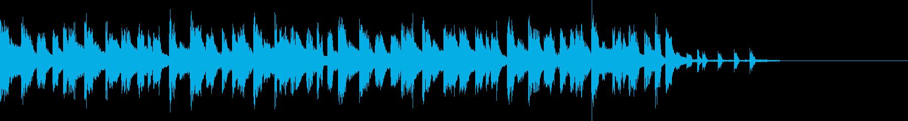 切ないイメージのテクノポップ ジングル1の再生済みの波形