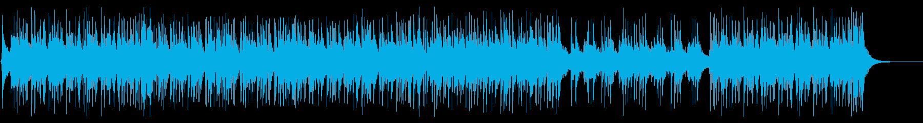 ピアノトリオのアグレッシブなラテンジャズの再生済みの波形