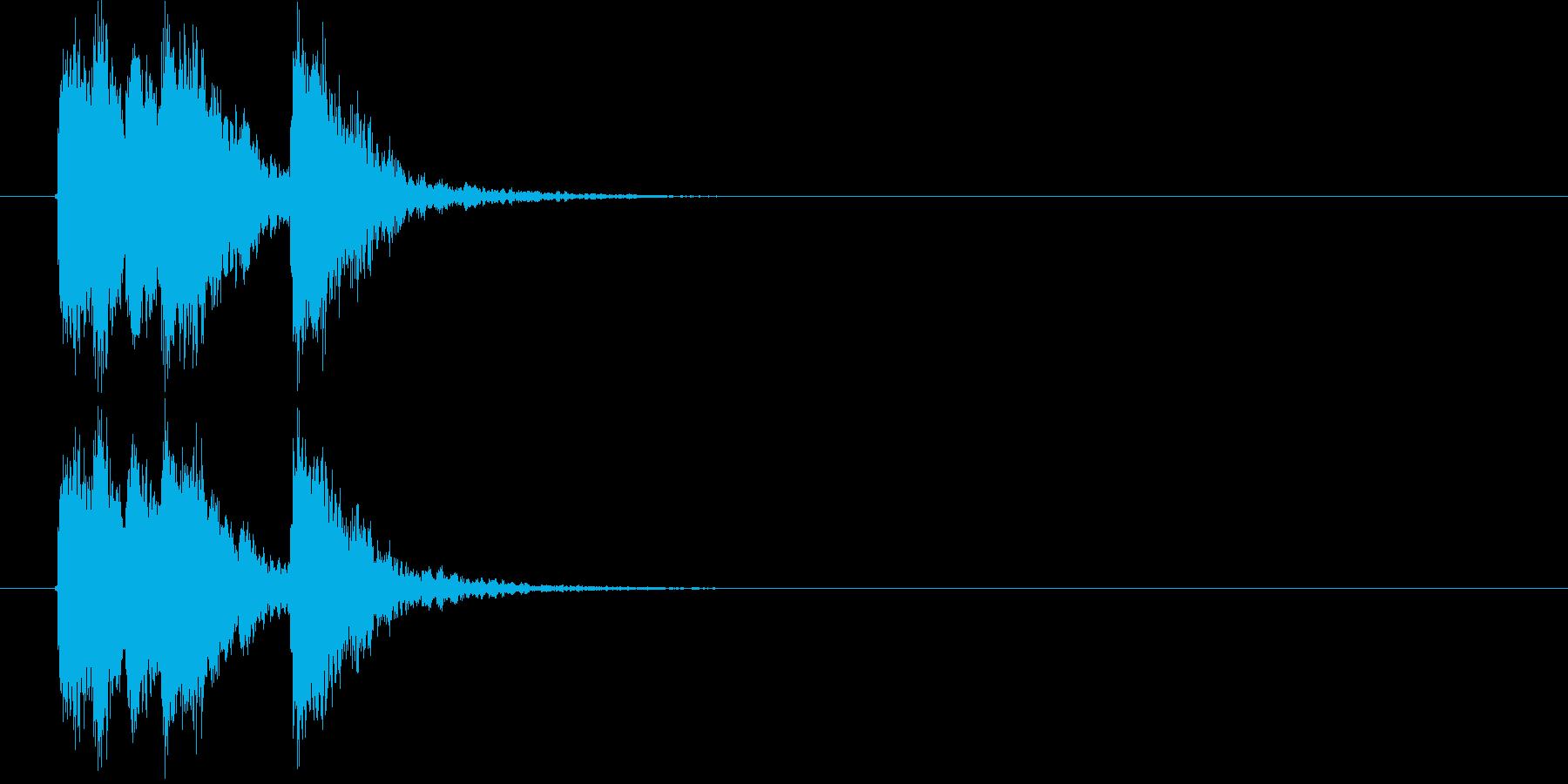 ワイルドで勢いあるジングルの再生済みの波形