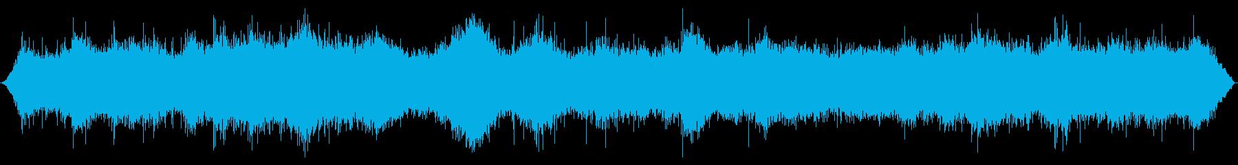 絶え間ないサーフロアで激しい波が来るの再生済みの波形