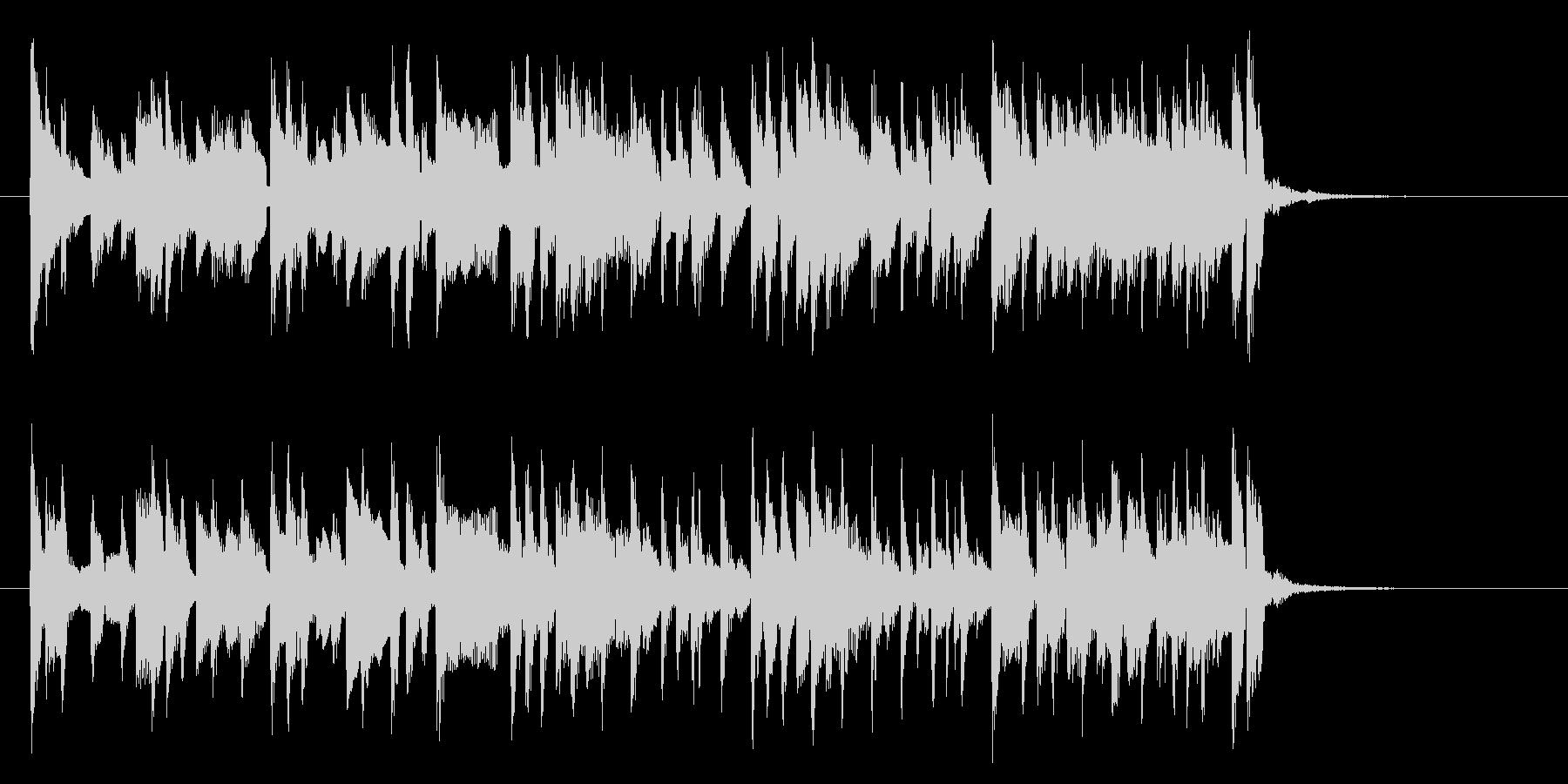 軽快でリズミカルなシンセとピアノジングルの未再生の波形
