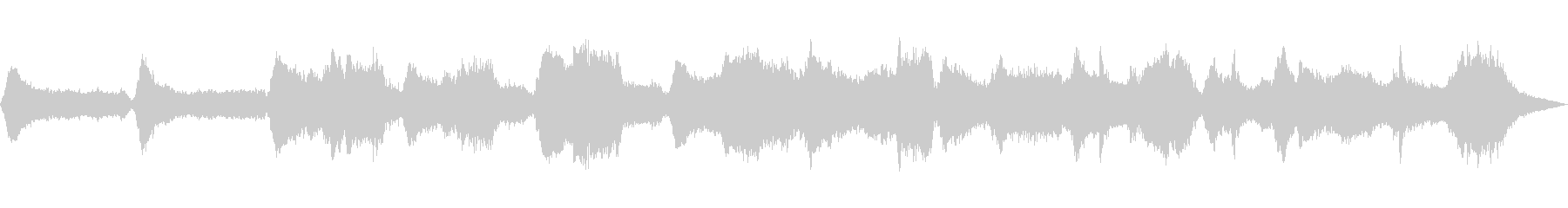 落ち着きのある低音の笛とシンセサイザーの未再生の波形