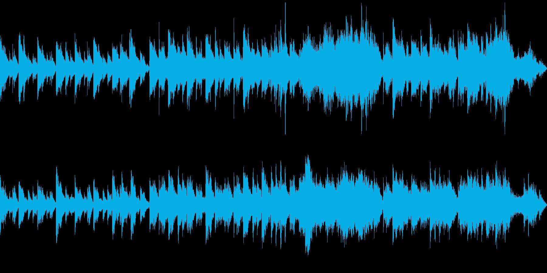 ほのぼのとした感じのピアノとストリングスの再生済みの波形