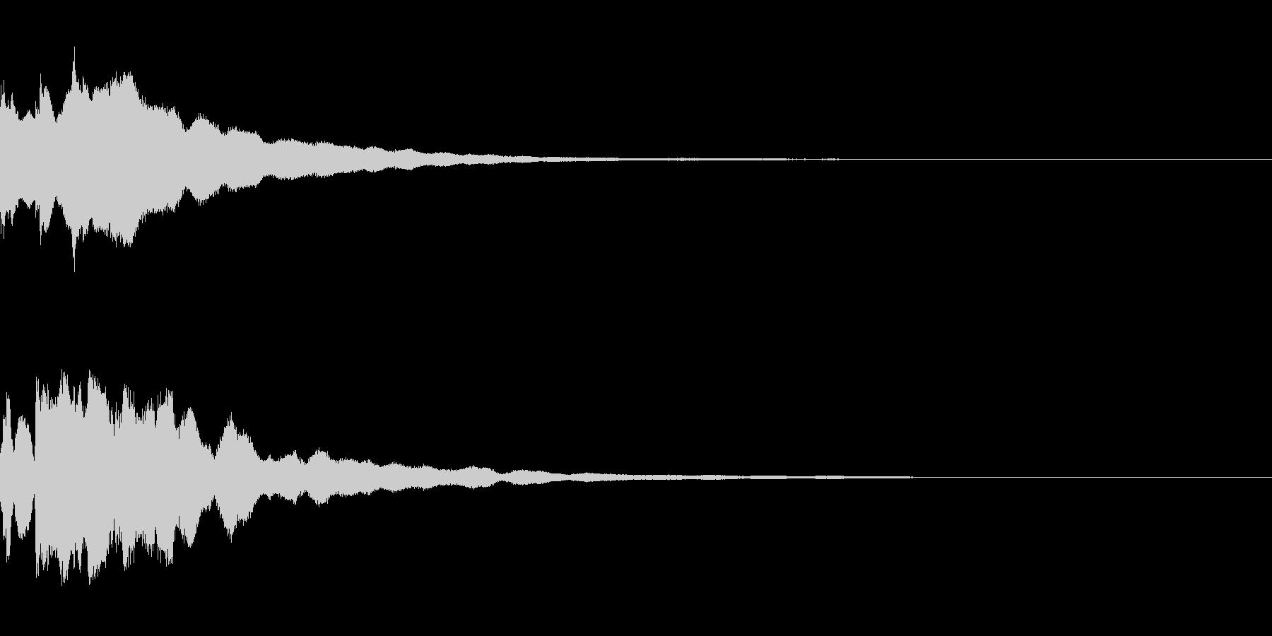 正解の音。「ピンポンピンポン」の未再生の波形