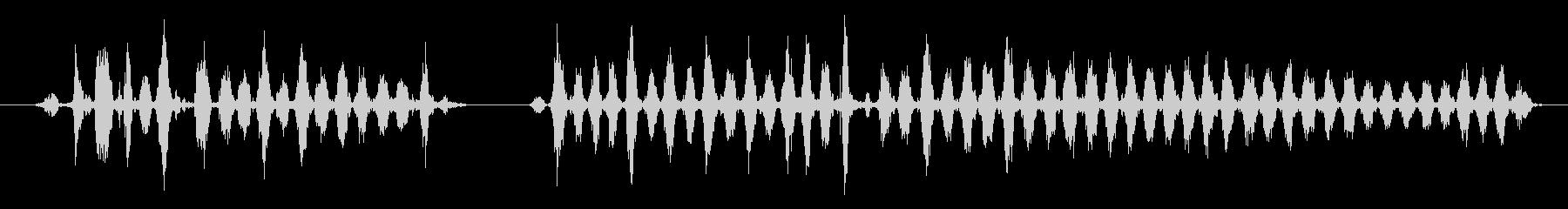 おろしがねで大根をすりおろす音の未再生の波形