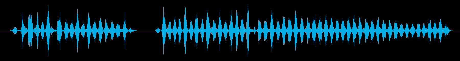 おろしがねで大根をすりおろす音の再生済みの波形