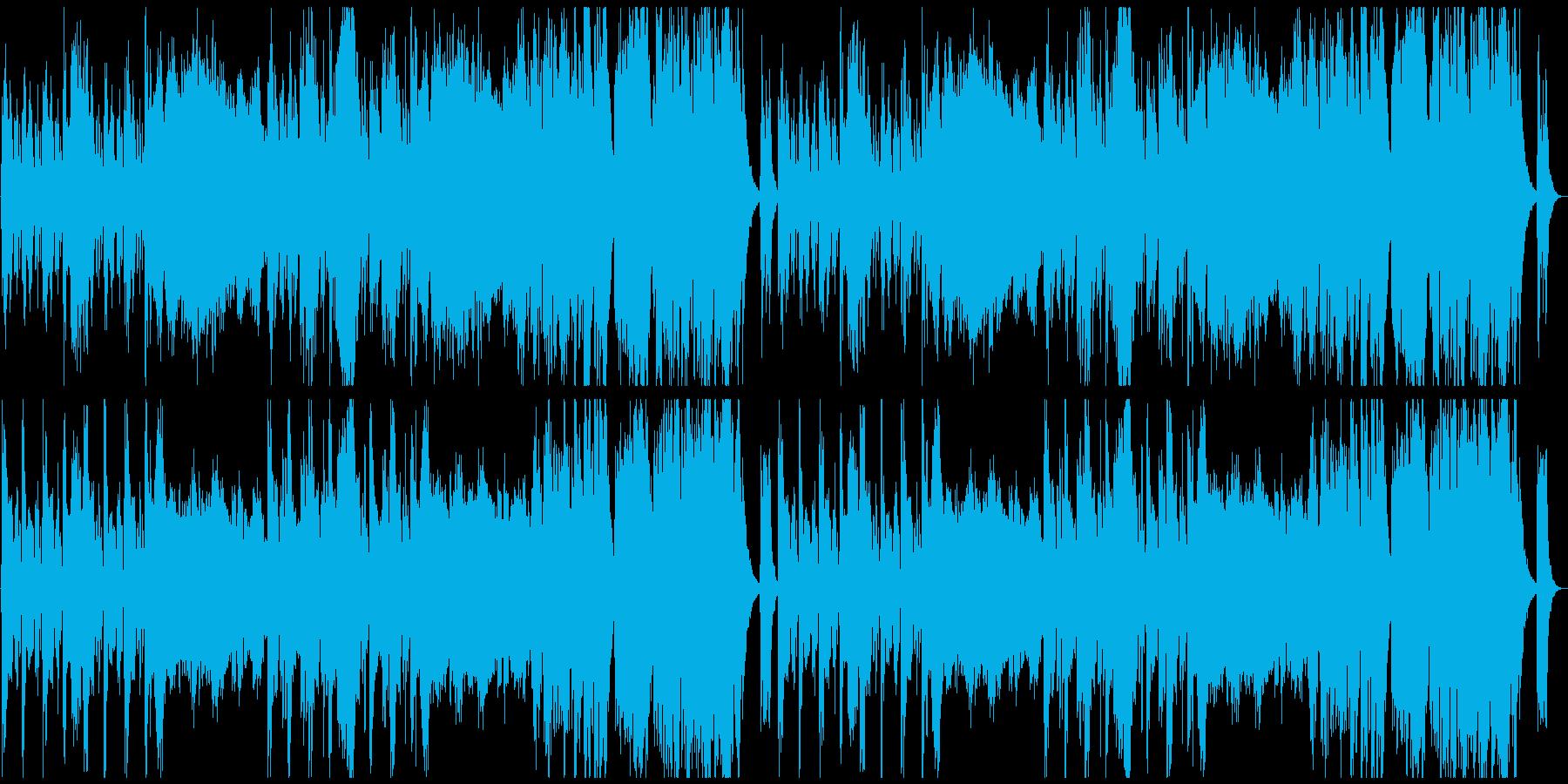 ファンシーでかわいい曲の再生済みの波形