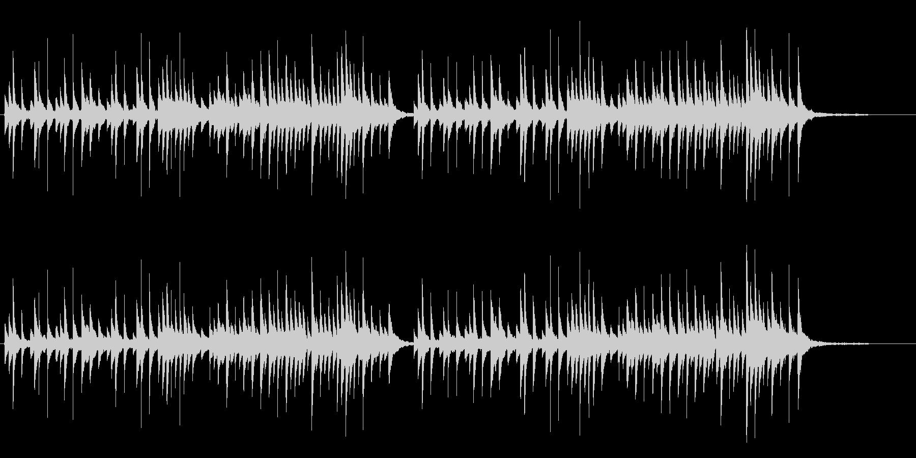 悲しいオルゴールの未再生の波形