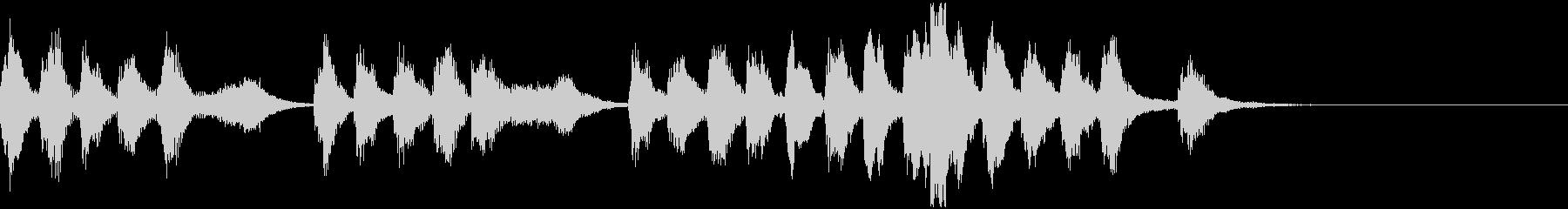 ファンタジー向けコミカルなジングルの未再生の波形
