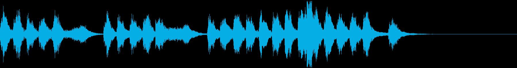 ファンタジー向けコミカルなジングルの再生済みの波形