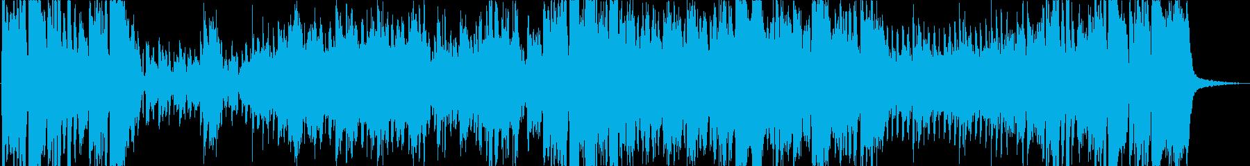 女性スパイイメージのレトロでジャジーな曲の再生済みの波形