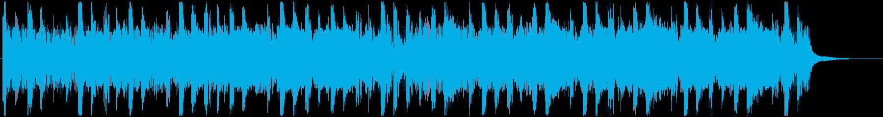 爽やかに疾走するドラムンベース系ジングルの再生済みの波形