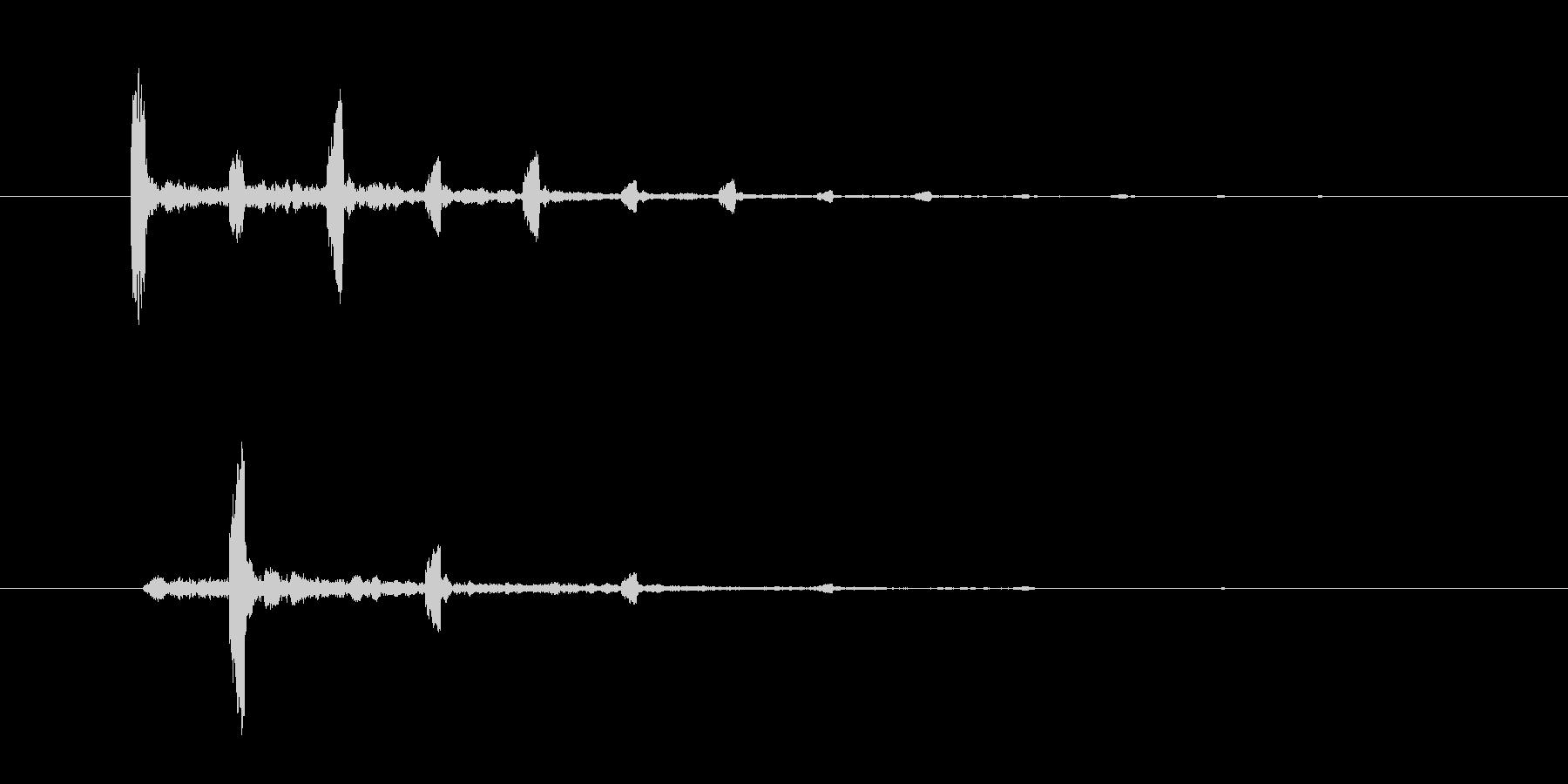 チャッチャッという不思議な効果音の未再生の波形