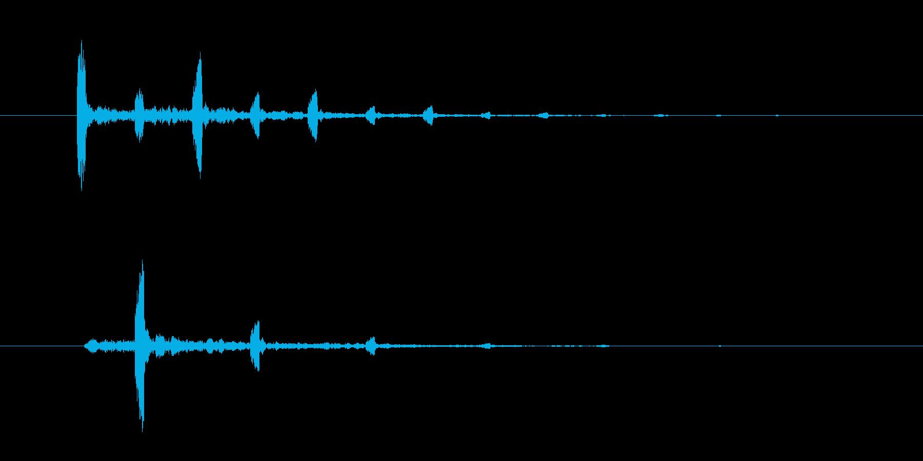チャッチャッという不思議な効果音の再生済みの波形